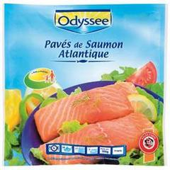 Portions de filets de Saumon Atlantique surgeles, le paquet de 500g