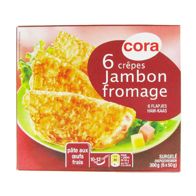 Crêpes jambon - fromage