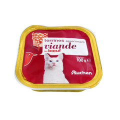 Auchan chat terrine boeuf 100g