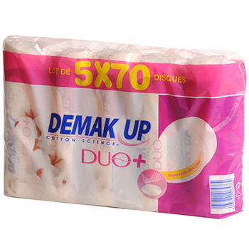 Cotons demaquillants Demak'up Duo + 5x70 pces