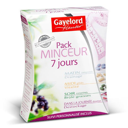 Pack minceur 7 jours Gayelord Hauser, 39g