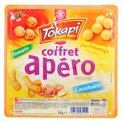 Biscuits Tokapi Coffret Apero Tomate fromage cacahuetes 100g