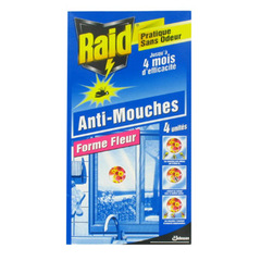 Raid stickers anti-mouches fleur (4 stickers)
