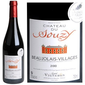 Vin rouge Beaujolais-Villages Chateau du Souzy 2010 75cl