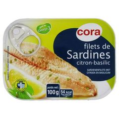 Filets de sardines citron-basilic