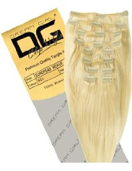 Dream Girl Extensions capillaires à clipser Couleur 613 35 cm