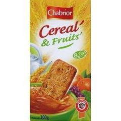 Petit Dej' - biscuits aux cereales et fruits, le paquet de 300g