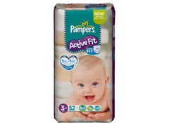 Pampers active fit 4-9kg geant T3 midi x52