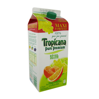 Jus reveil fruite Tropicana Orange mandarine raisin 1,75l