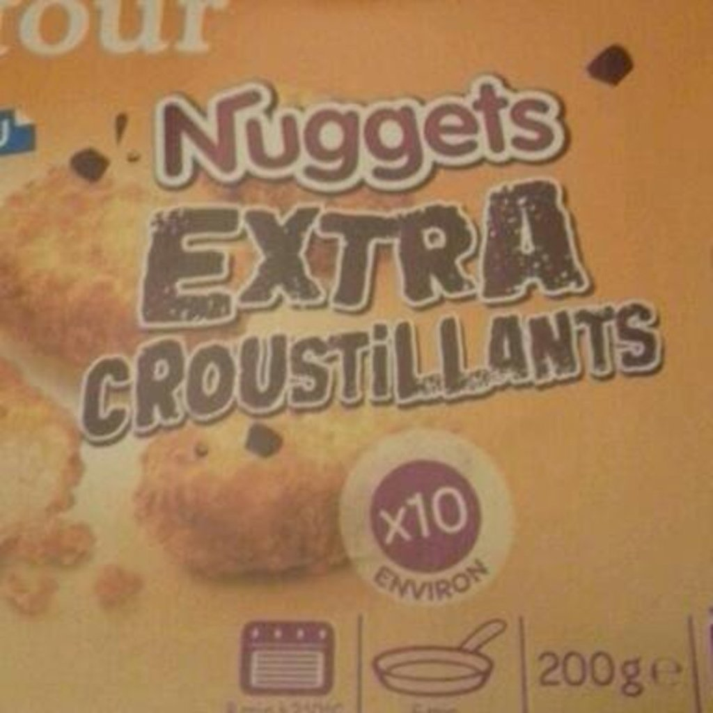 Nuggets de poulet, extra croustillants