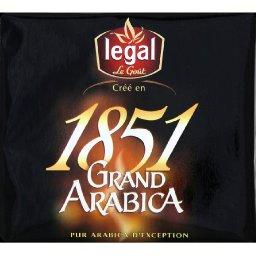 1851 grand arabica moulu 2x250g, Bi-pack 500G