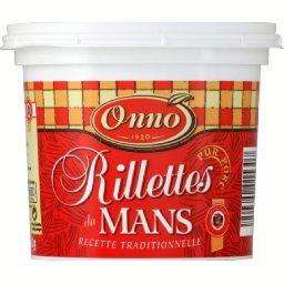 Rillettes du Mans, recette traditionnelle, le pot de 400g