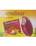 Bâtonnets Fruits Rouges Coeur de Vanille