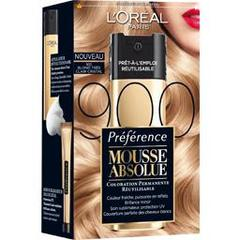 Coloration permanente Mousse Absolue PREFERENCE, blond tres clair cristal n°900