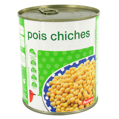 Auchan pois chiches 530g