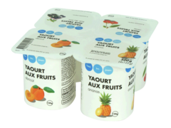 Yaourts aux fruits