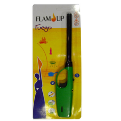 Flam'up, Allumeur electronique a tube rigide rechargeable et flamme reglable, le blister d' 1 allumeur
