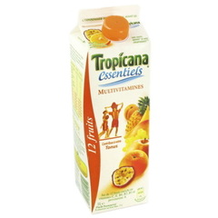 jus de TROPICANA essentiels multivitamine 12 fruits
