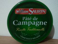 Pâté de campagne pur porc WILLIAM SAURIN, 78g