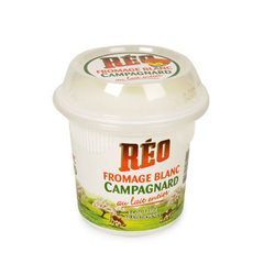 Fromage blanc campagnard au lait entier REO, 18%MG, 500g