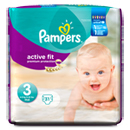 Pampers couches active fit mid pack change 4/9kg x31 taille 3