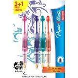 Papermate Reynolds - 1854255 - Mini Stylo-Plume Assortiment - Orange/Rose/Bleu/Vert - Lot de 4