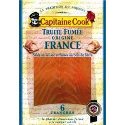 Truite fumee, les 6 tranches - 150g