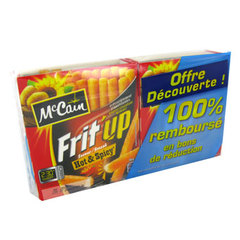 Frites micro ondables Frit'Up hot et spicy MC CAIN, 180g