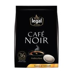 Legal, Cafe noir, le sachet de 36 dosettes, 250 gr
