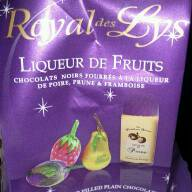 Chocolats fourres liqueurs de fruits Royal Des Lys ABTEY, 18 unites, 180g