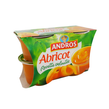 Dessert fruitier abricot Recette Veloutee ANDROS, 4x97g
