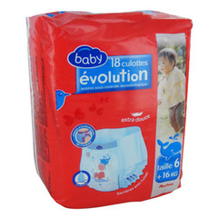 Auchan Baby changes evolution 16/26kg x18 taille 6