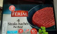Steack hache Ferial 15%mg 4x100g