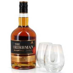 Scotch whisky single malt avec 2 verres