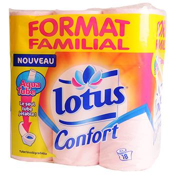 ph lotus confort rouleaux aquatube x 18 tous les produits papier toilette prixing