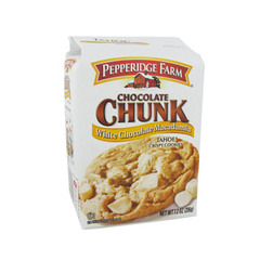 Cookies au chocolat blanc et noix de macadamia PEPPERIDGE FARM, 206g