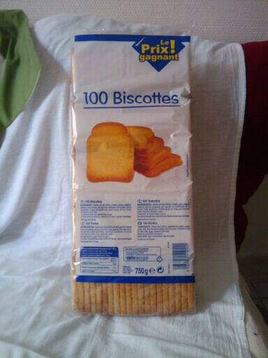 Biscottes, 100 tranches, Le 750g