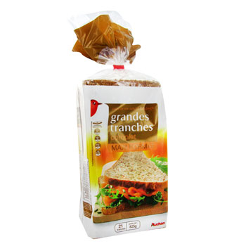 Pain de mie complet grandes tranches - 21 tranches Special sandwich.