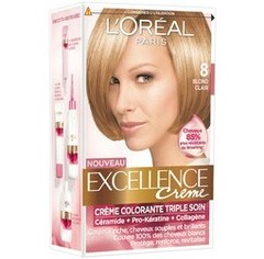 L'Oreal, Excellence Creme - Creme colorante Blond clair 8, la boite de 176ml