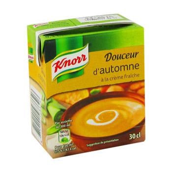 Knorr soupe douceur d 39 automne la cr me fra che la brique for Prix de la brique