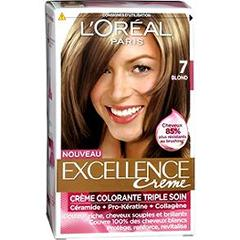 loral excellence crme coloration blond 7 - L Oreal Coloration Blond