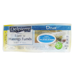 Filets de harengs doux DELPIERRE, 200g