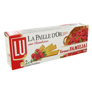 Biscuits paille d'or Lu Framboise famillial 340g