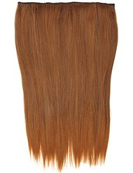 BiYa Hair Elements Thermatt Extensions de cheveux à clipser lisses Dip dye Couleur numéro 4T30 46 cm 80 g