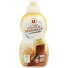 lessive liquide concentree au savon de marseille u 27 doses 95cl tous les produits poudre et. Black Bedroom Furniture Sets. Home Design Ideas