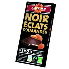 Alter Eco bio equitable chocolat noir amande100g