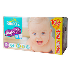 Couches Pampers Active Fit Family pack x104