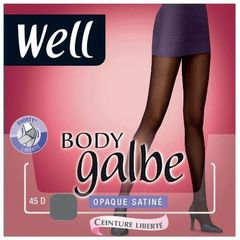 Collant opaque satine 45 deniers Body Galbe WELL, taille 3, noir