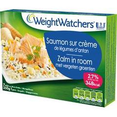 Saumon sur creme de legumes d'antan WEIGHT WATCHERS, 350g