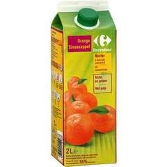 Nectar d'Orange a Base de Jus d'Orange Concentre